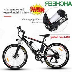 "ANCHEER 500W 26"" E-Bike Electric Bike Mountain Bicycle Cycli"