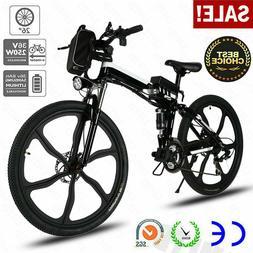 500W 26'' Electric Bike EBike Mountain Bicycle SHIMANO 21 Sp