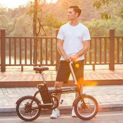 ANCHEER Folding Electric Bike 250W Assist Scooter E-Bike 12""