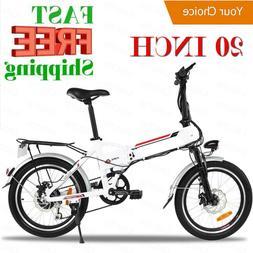 Classic 20'' Electric Bike EBike Mountain Bicycle City Folda