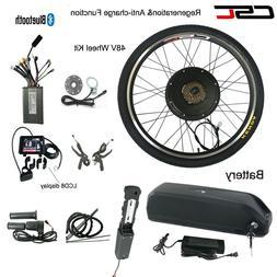 E Bike Conversion Kit 48V 1500W Electric Mountain Bike 700C