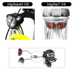 Electric Bike LED 6V Headlight Taillight BAFANG Mid Drive Mo