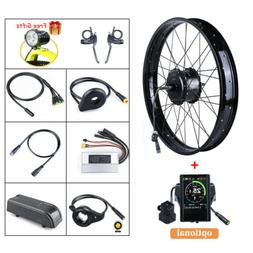 Electric Bike Wheel Rear Hub Motor Conversion Kit 48V 750W 2