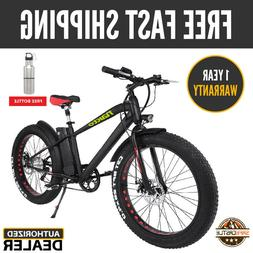 """26"""" 300W Fat Tire Electric Bicycle 6-Speed Beach Snow 36V10A"""