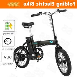 Folding Electric Bike 16 Inch Collapsible Electric Commuter