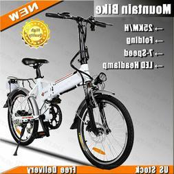 ANCHEER Folding Electric Bike City Bicycle 250W Lithium Batt