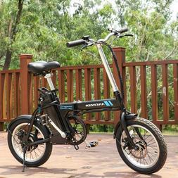 16'' Folding Electric Commuter Bike City Ebike 8Ah Removable