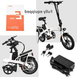 Folding Electric Tire Bike Beach Bicycle City Ebike 14In 48V