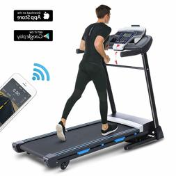 ANCHEER Compact Electric Treadmill 3.25HP Power Running Fitn