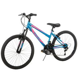 Huffy Girls Mountain Bike 24 inch 18 Speed Alpine, Blue and