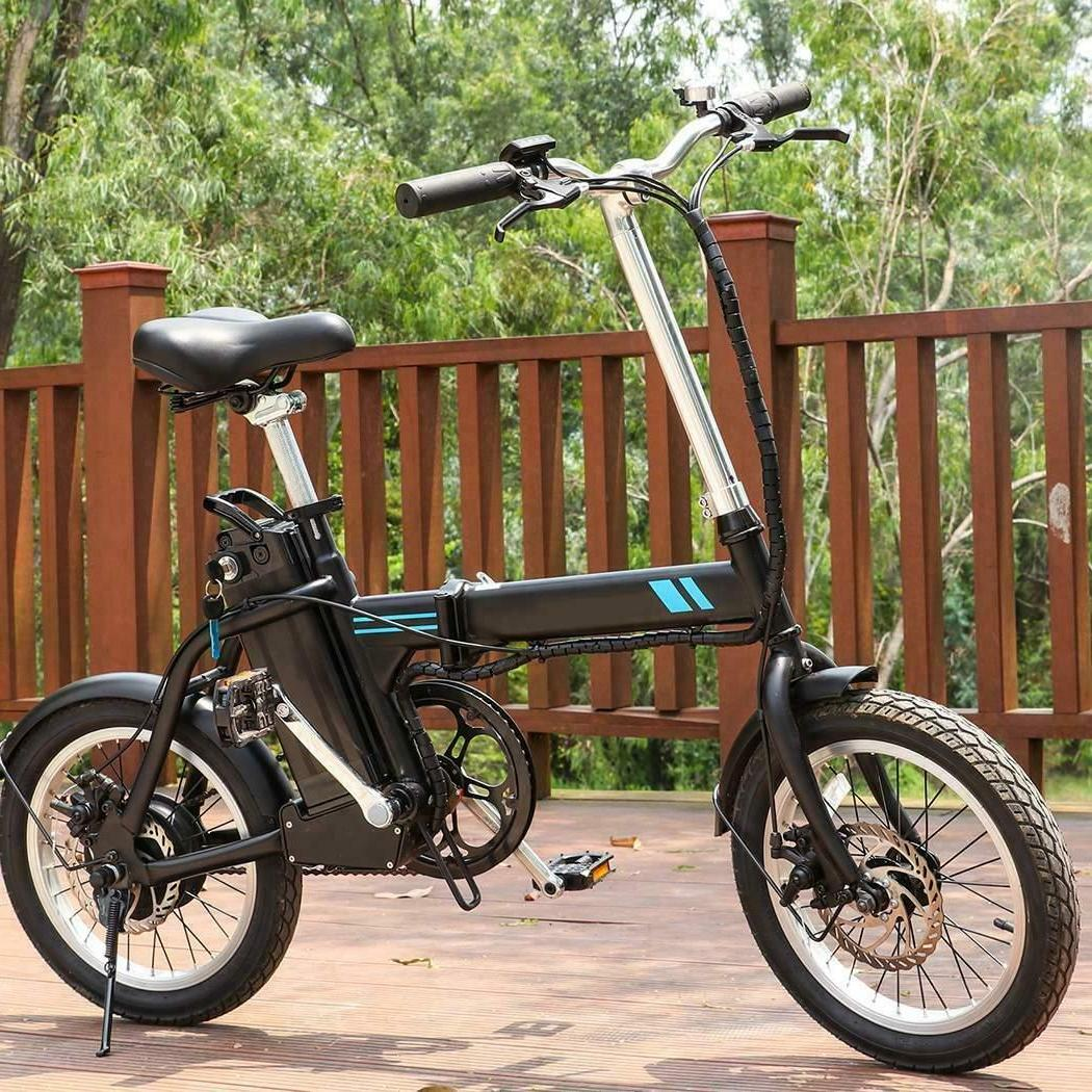ANCHEER Folding Electric Bike, 16 Inch Collapsible Electric