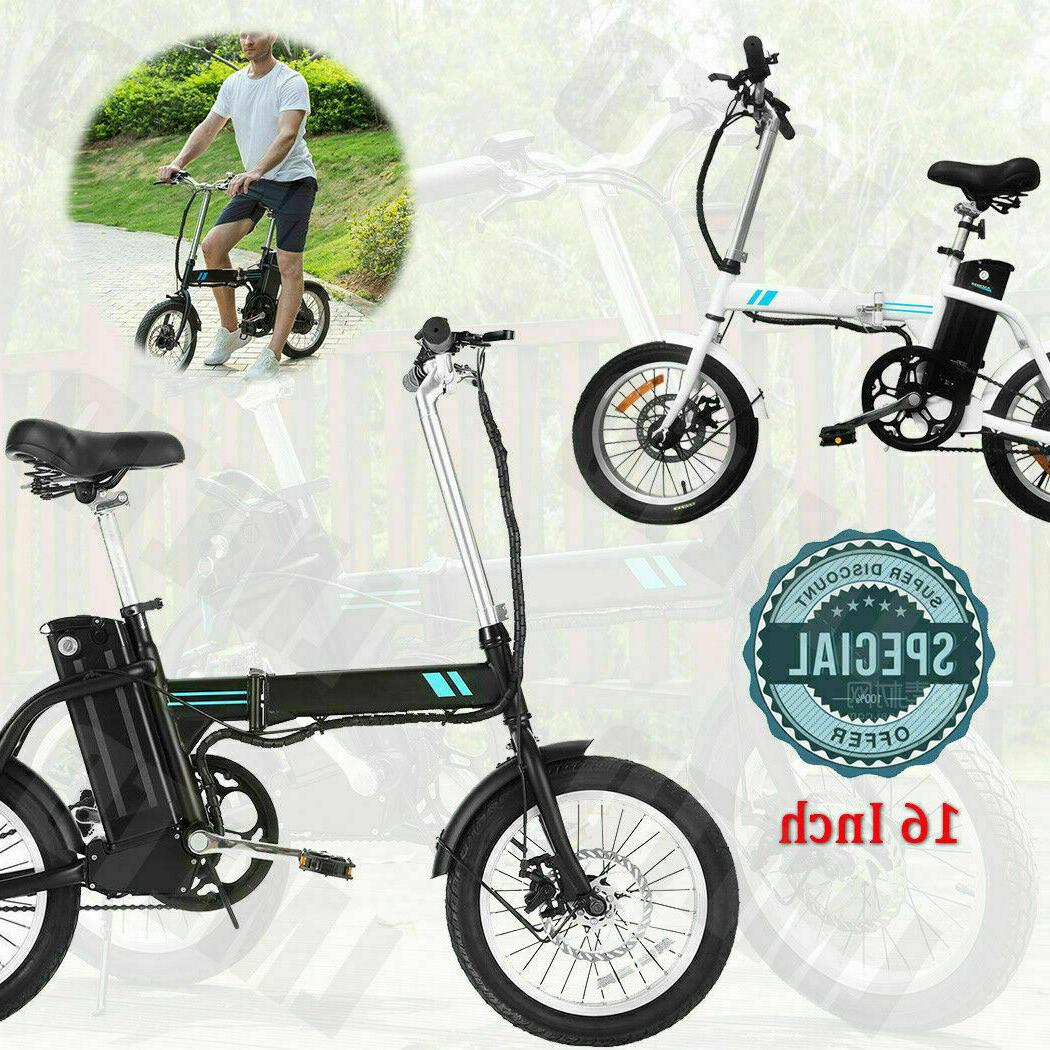 16 Folding Electric Bike,City 8Ah Removable Lithium-Ion