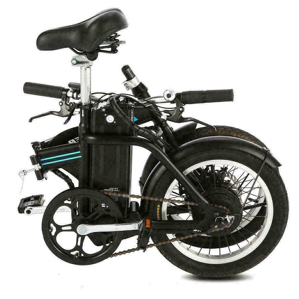 16 Folding Electric Bike,City Ebike 8Ah Removable Lithium-Ion