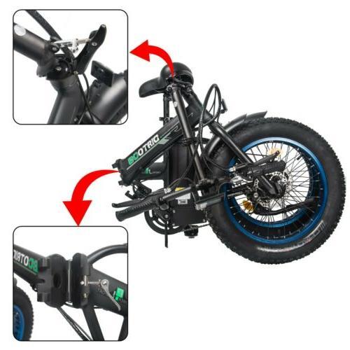 """20"""" 48V 13AH 500W Folding Bike Ebike"""