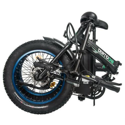 """20"""" 48V Folding Electric Tire Bike Beach Bicycle Ebike"""