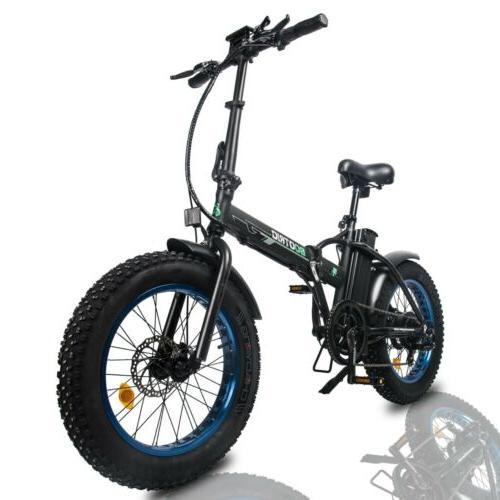"""20"""" 48V Folding Bike Beach Ebike LCD"""