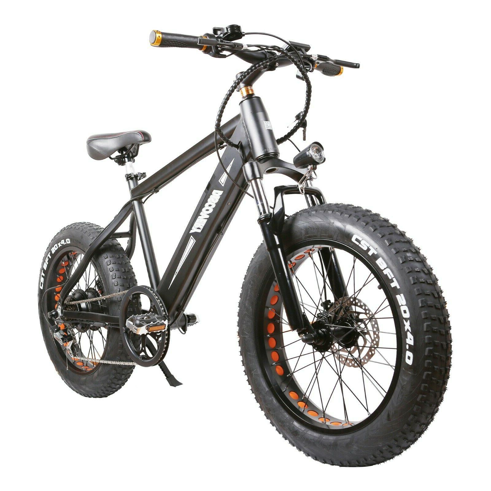 NAKTO Fat Electric E-Bike 48A 8Ah 6 Speeds
