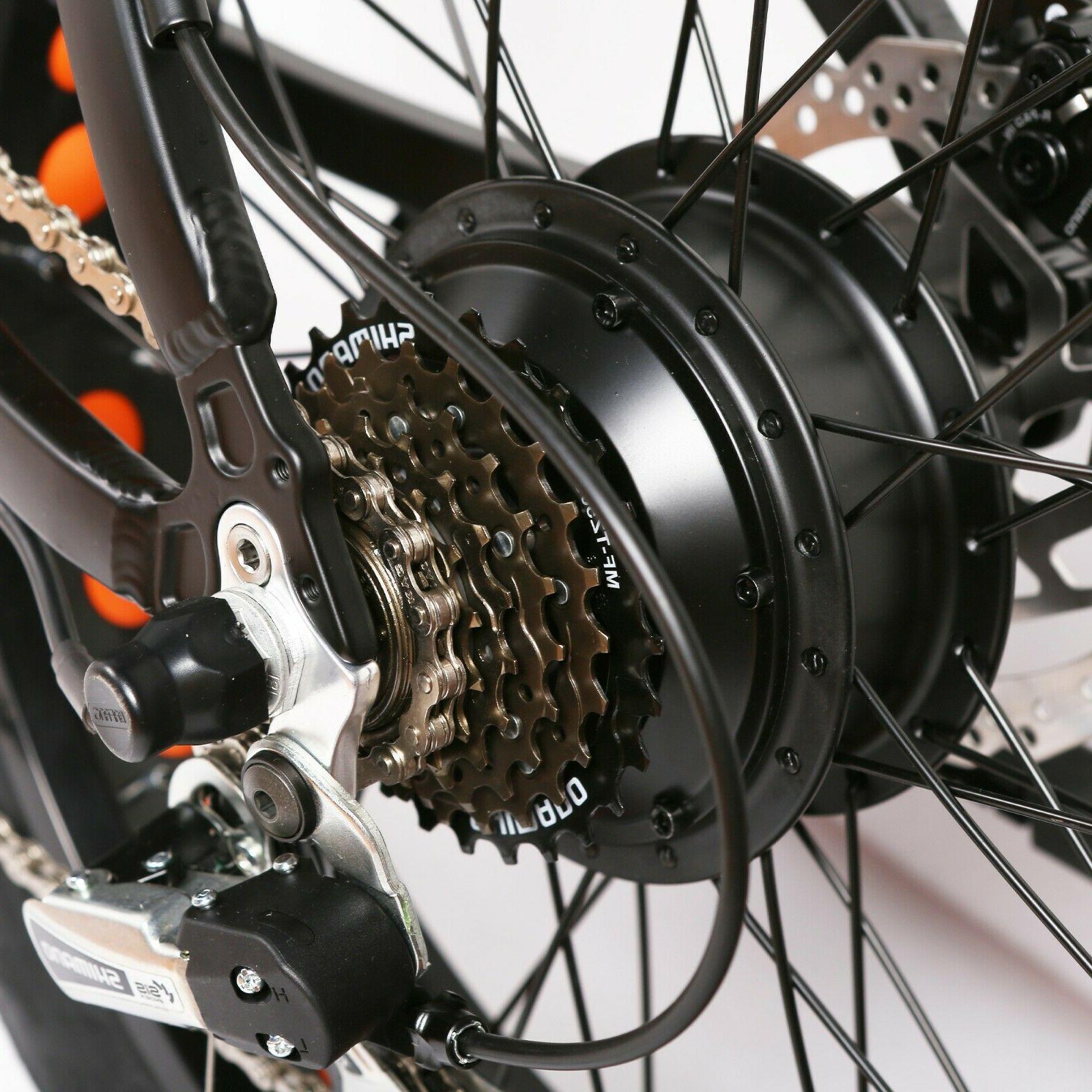 NAKTO Fat E-Bike 6 Speeds