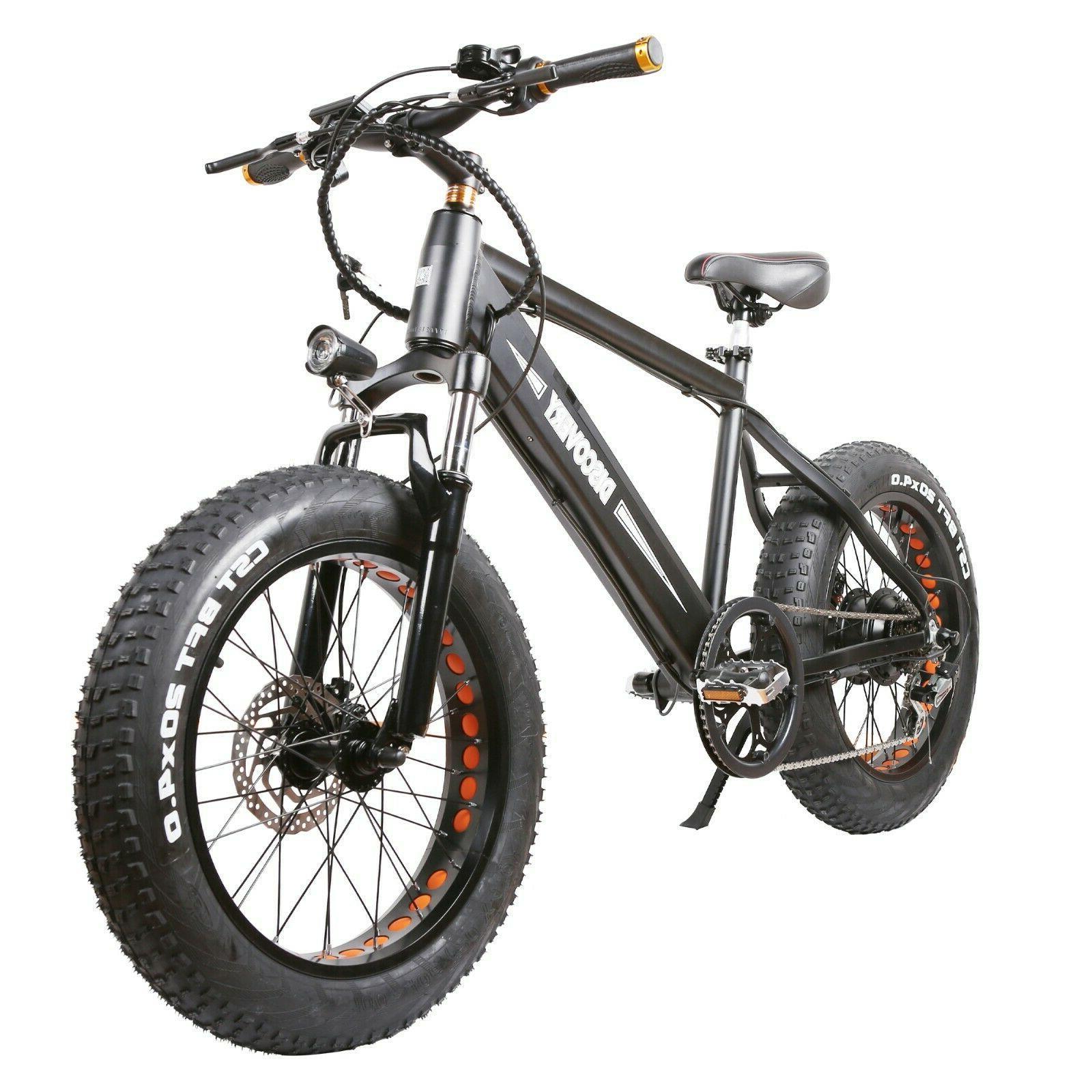 "NAKTO 20"" Fat Tire Electric E-Bike 8Ah 6 Speeds"