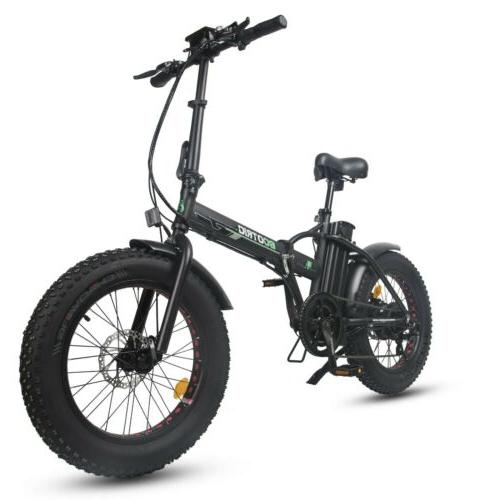 20 folding fat tire electric bicycle 48v