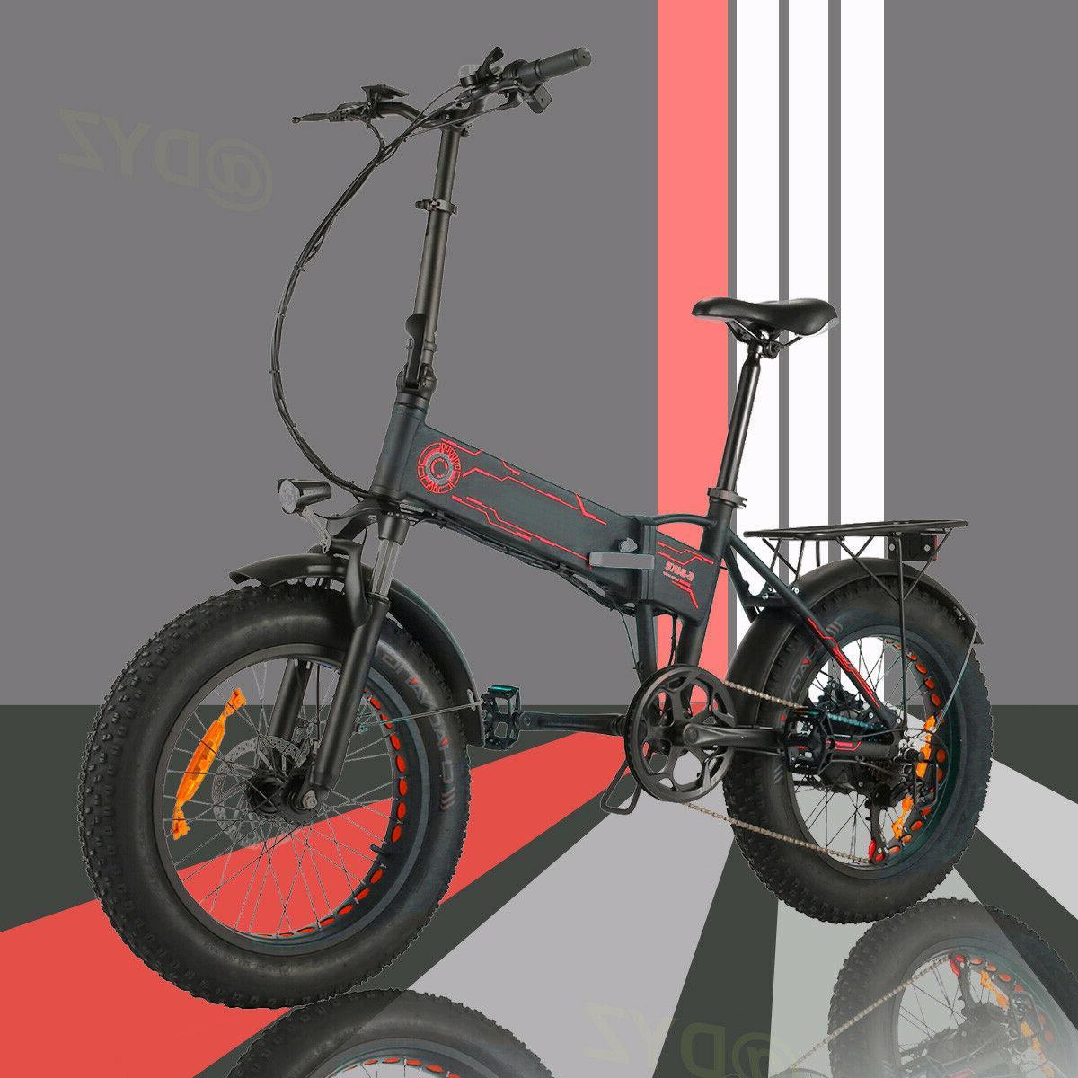 20INCH Folding Fat Tire Beach Mountain Bicycle 12Ah