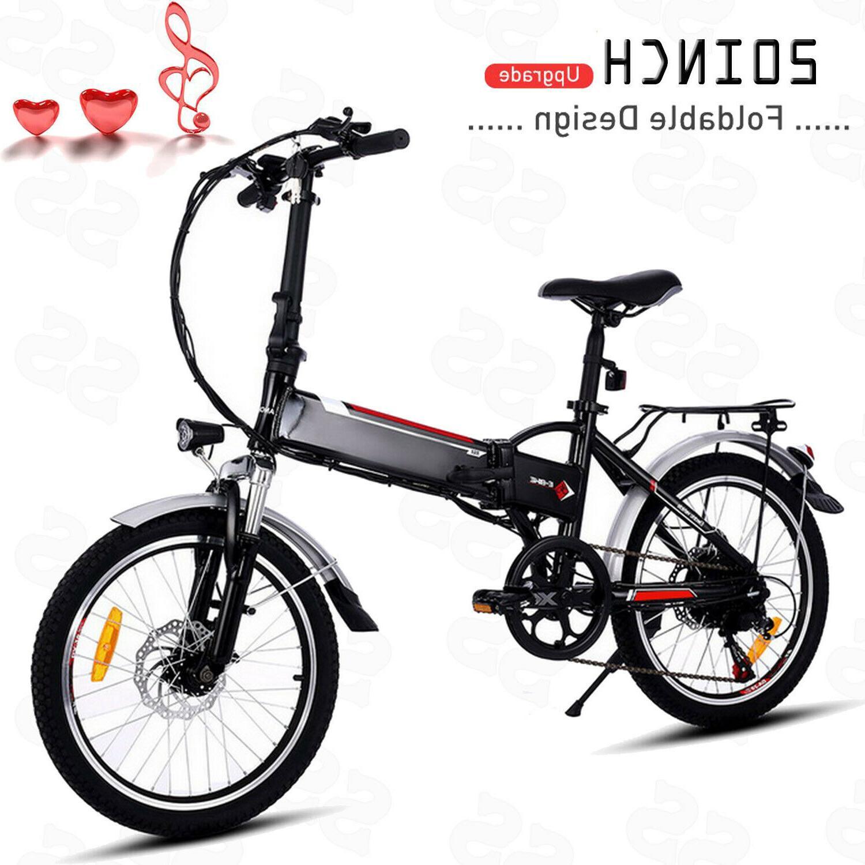 "26'' 20"" Electric Bike E-Bike Mountain Bicycle Folding ECycl"