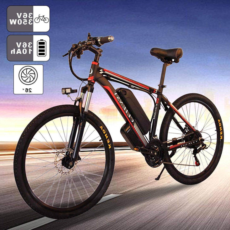 350W 36V 26'' Electric Mountain Bike Bicycle Shimano 21 Spee