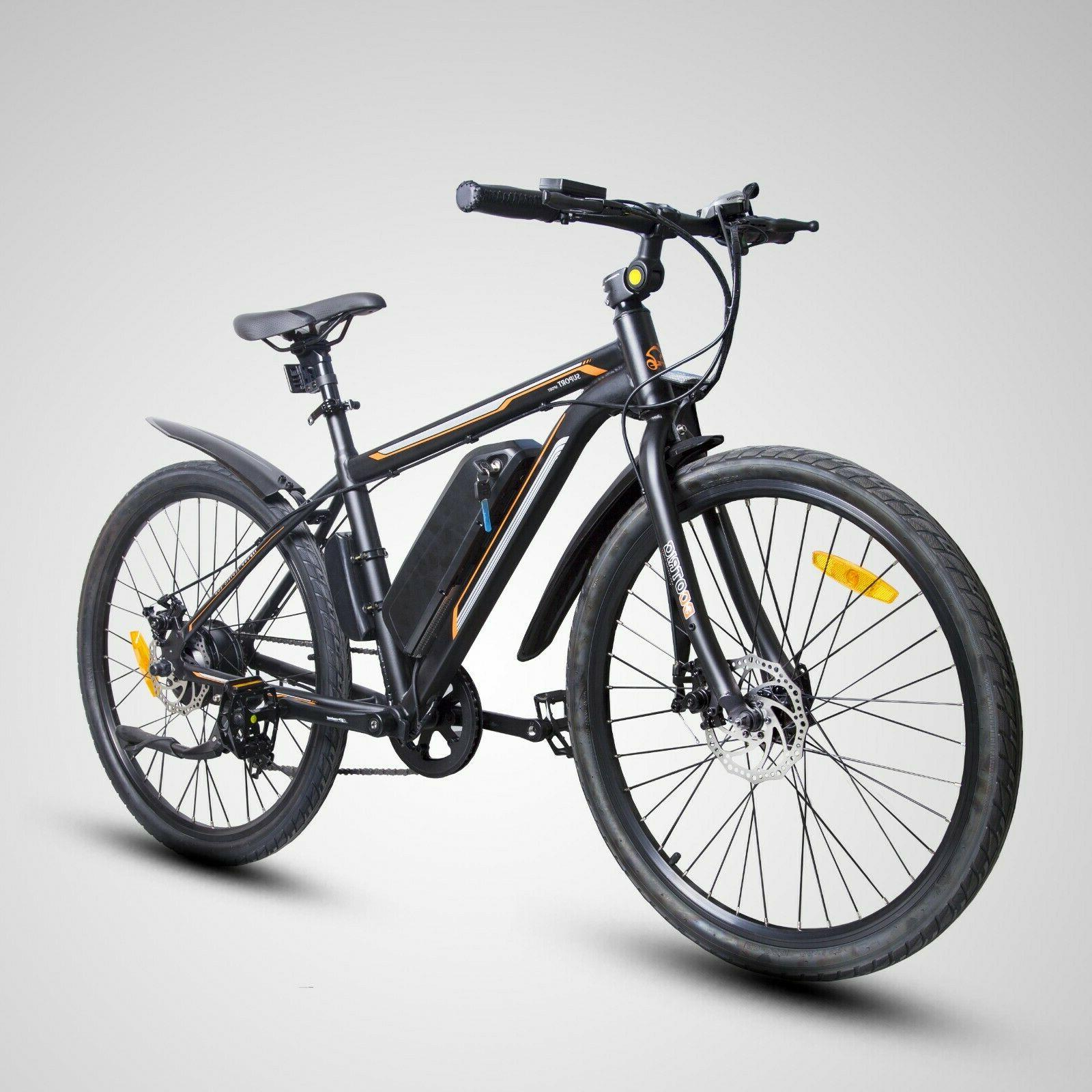 "26"" 350W Electric Bicycle Bike Beach w/Removable Battery"