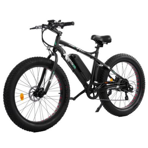 26 500w 36v black electric fat tire