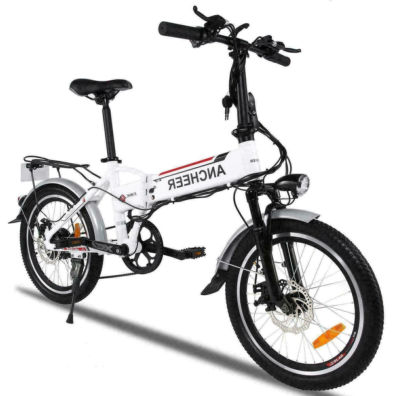 "Ancheer 20"" 26'' Foldable Adjustable Electric Mountain Bike"