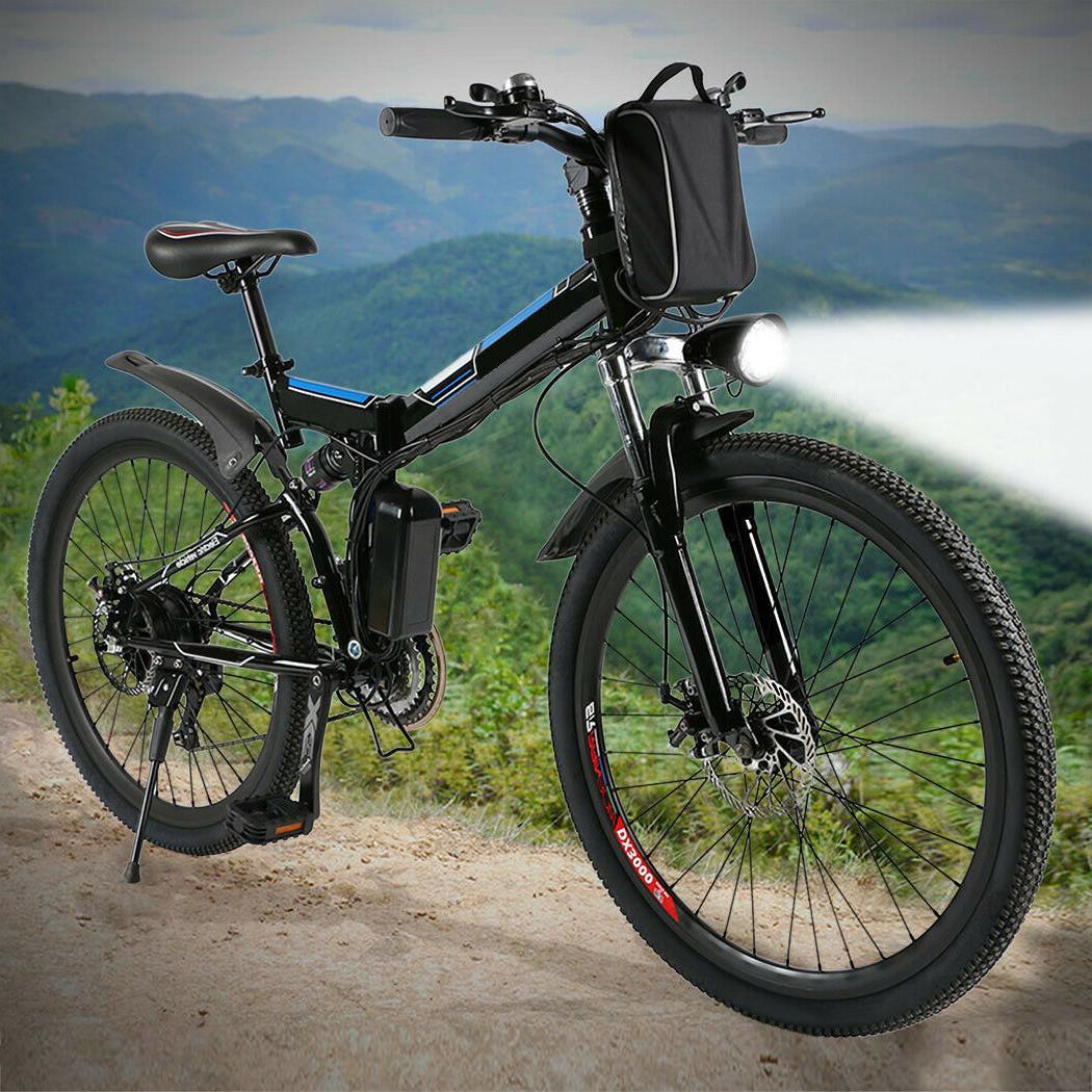 26'' 14'' Folding Electric Bike Mountain Bicycle  Ebike Shim