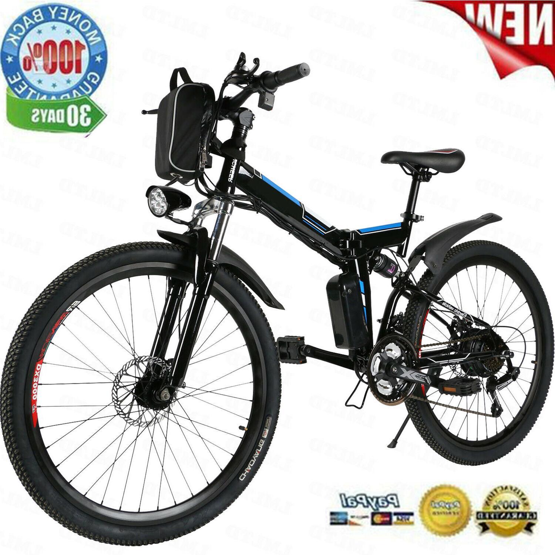 26'' Electric Bike Foldable Mountain Bicycle Ebike 21 Speed