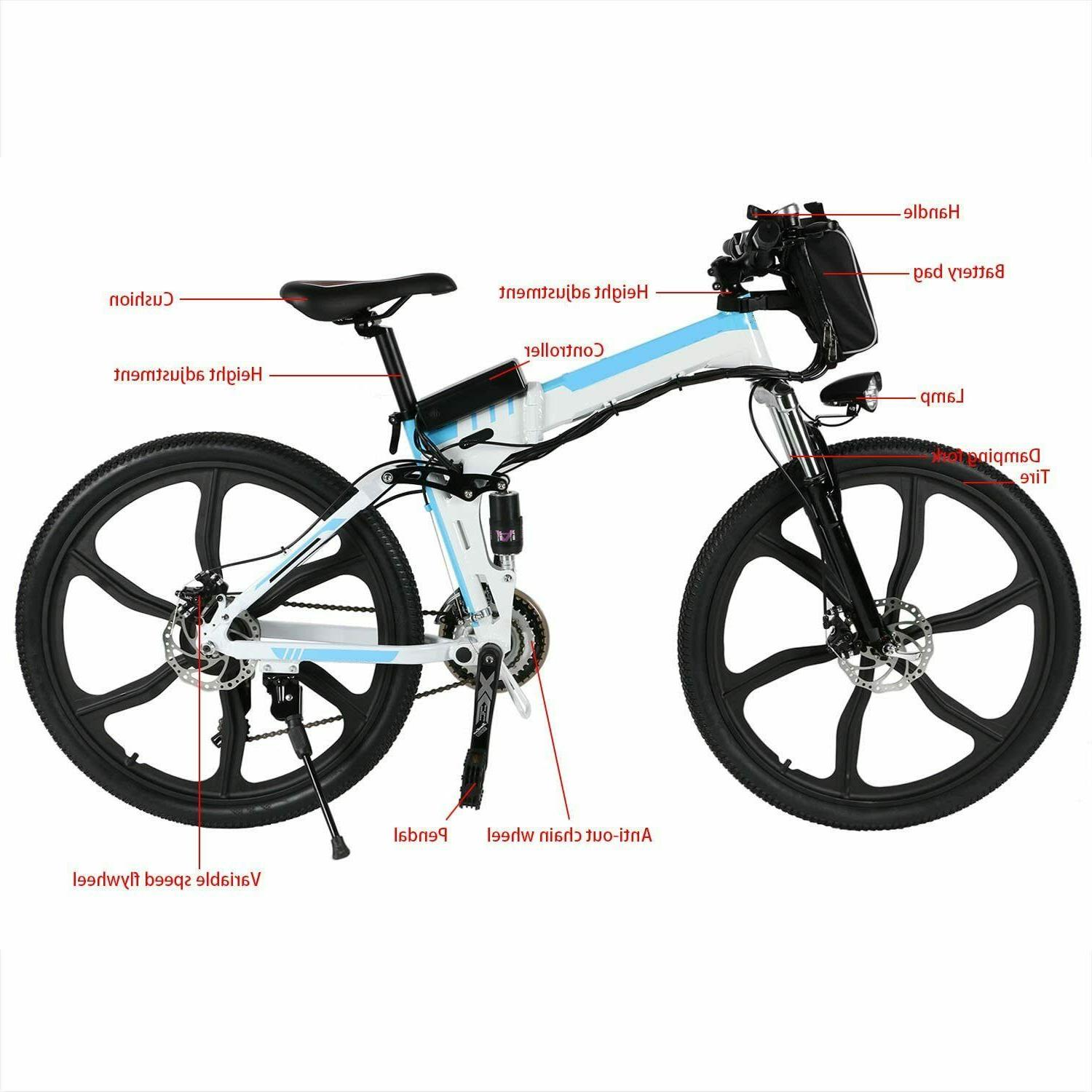 26'' Electric Bike Ebike Gears Removable Li-Battery~
