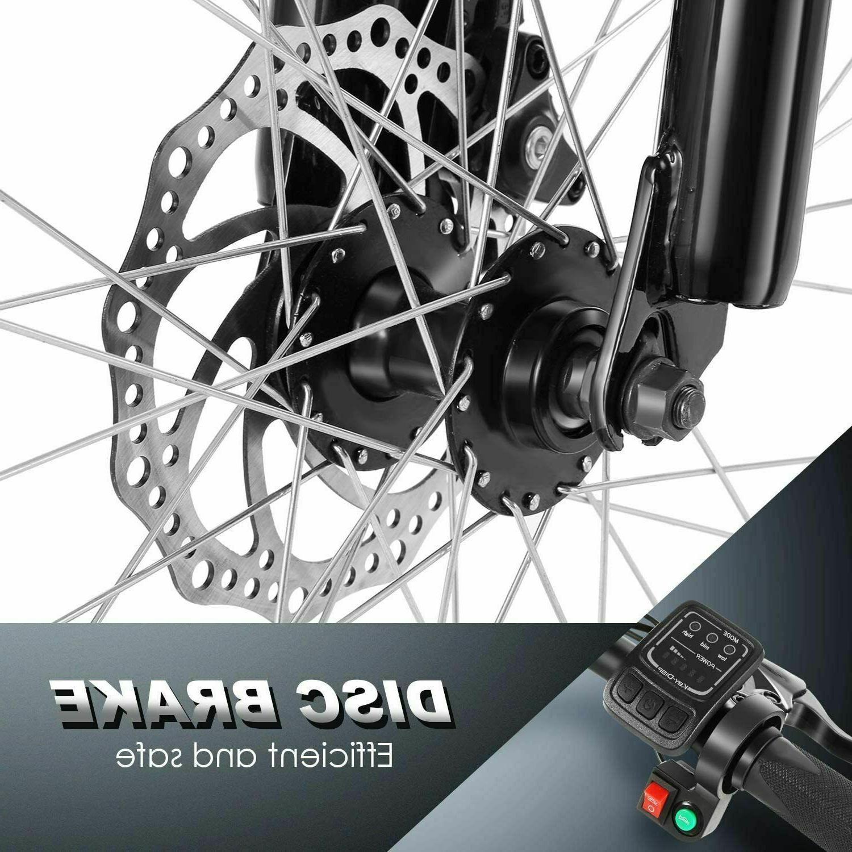New 26''Folding Mountain Bike,8Ah Li-Battery+ Shock-Absorbing