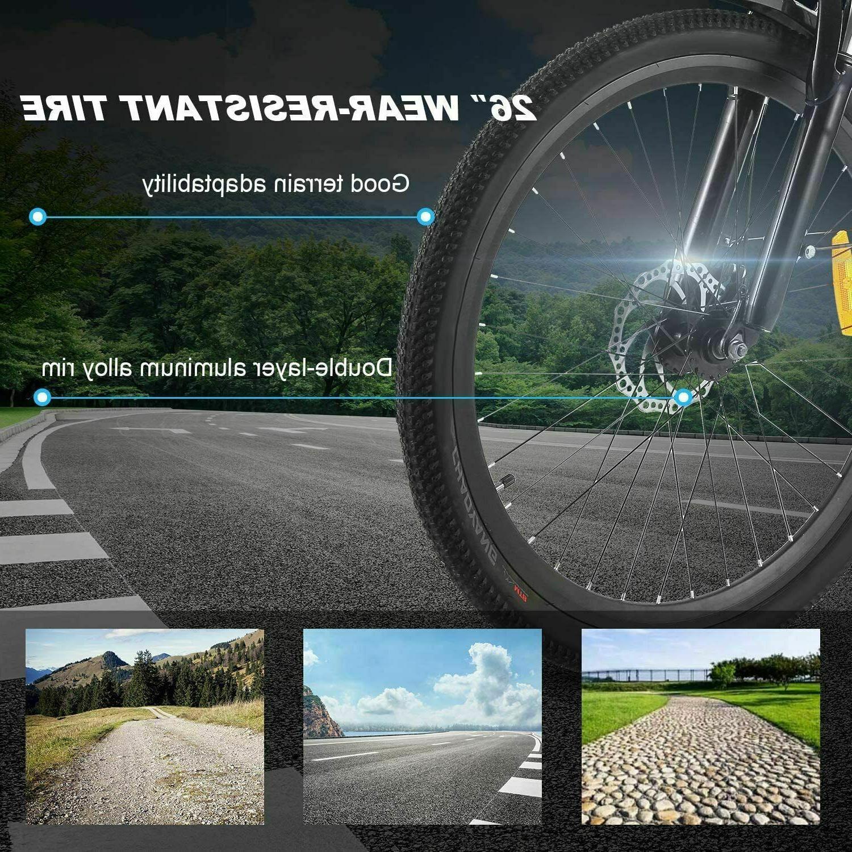 New 26''Folding Bike,8Ah Shock-Absorbing