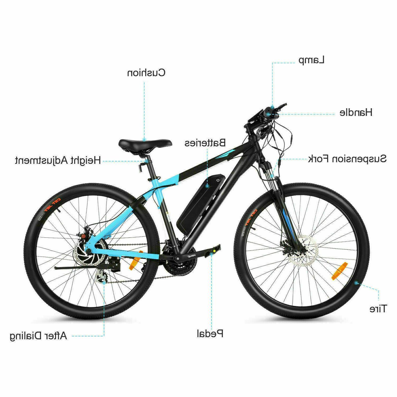 350W 27.5'' Electric Bike 24 Speed Disc