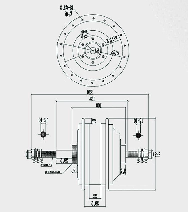 36V <font><b>electric</b></font> <font><b>bike</b></font> kit Motor Wheel Drive for 26/27.5