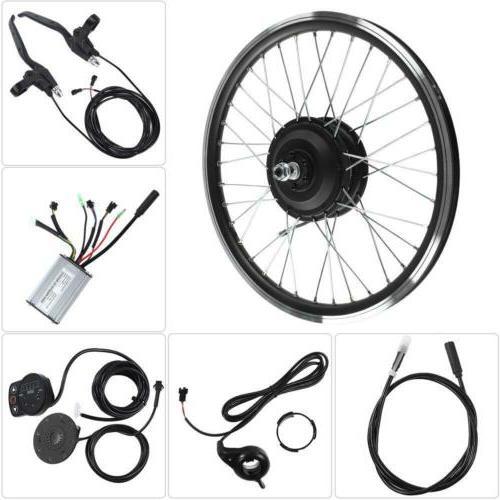 36V 48V 350W Ebike Conversion Kit Electric Bike Front Wheel❤