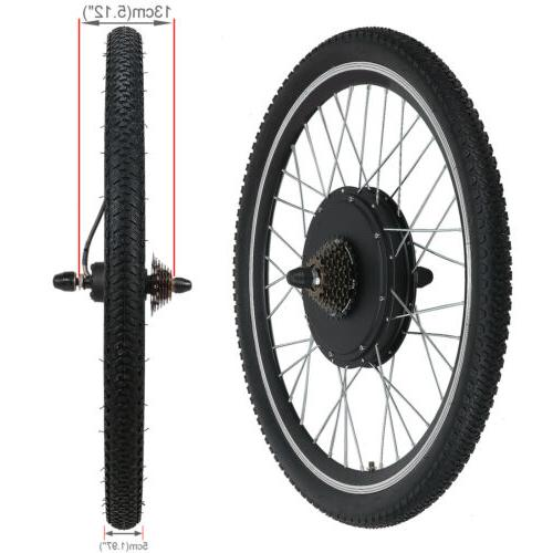 48V 1500W Wheel Electric Kit Cycling w/