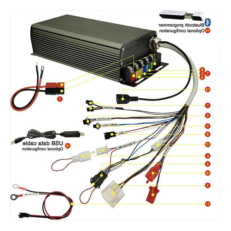 eBike Electric 2500W-4000W 80A Sine Sabvoton LCD