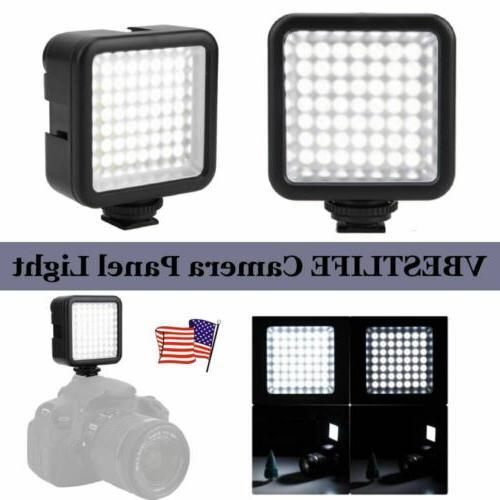 49 led studio video light cam photo