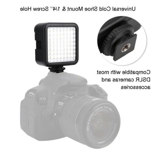 VBESTLIFE 49 Video Light Cam Photo Dimmable