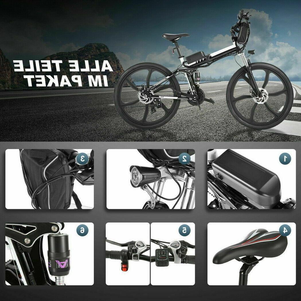 """500 Watt 36V 26"""" Mountain Tire Electric Bike 27 Speed"""