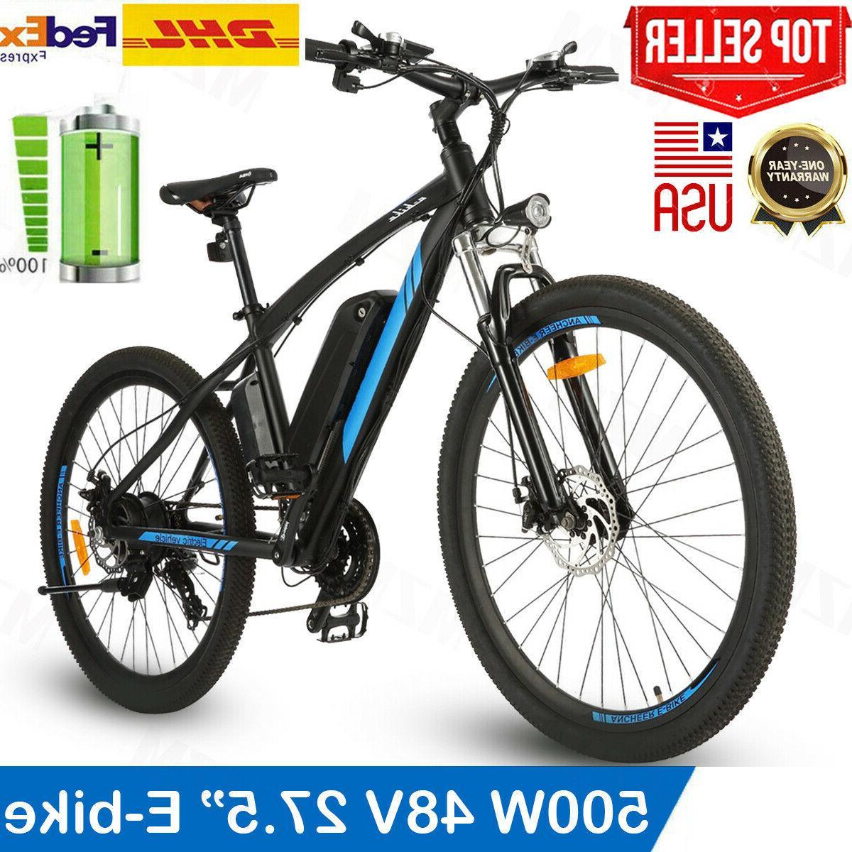 500w 27 5 electric bikeelectric mountain bike