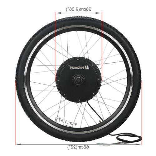 1000W Electric Conversion Kit Bike Cycling Front Meter