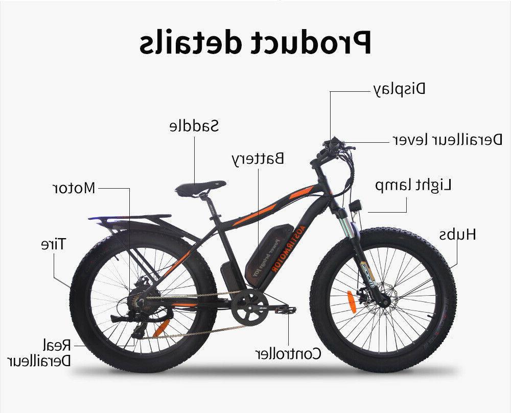 AOSTIRMOTOR Bike 26*4 Fat Ebike, S07-B