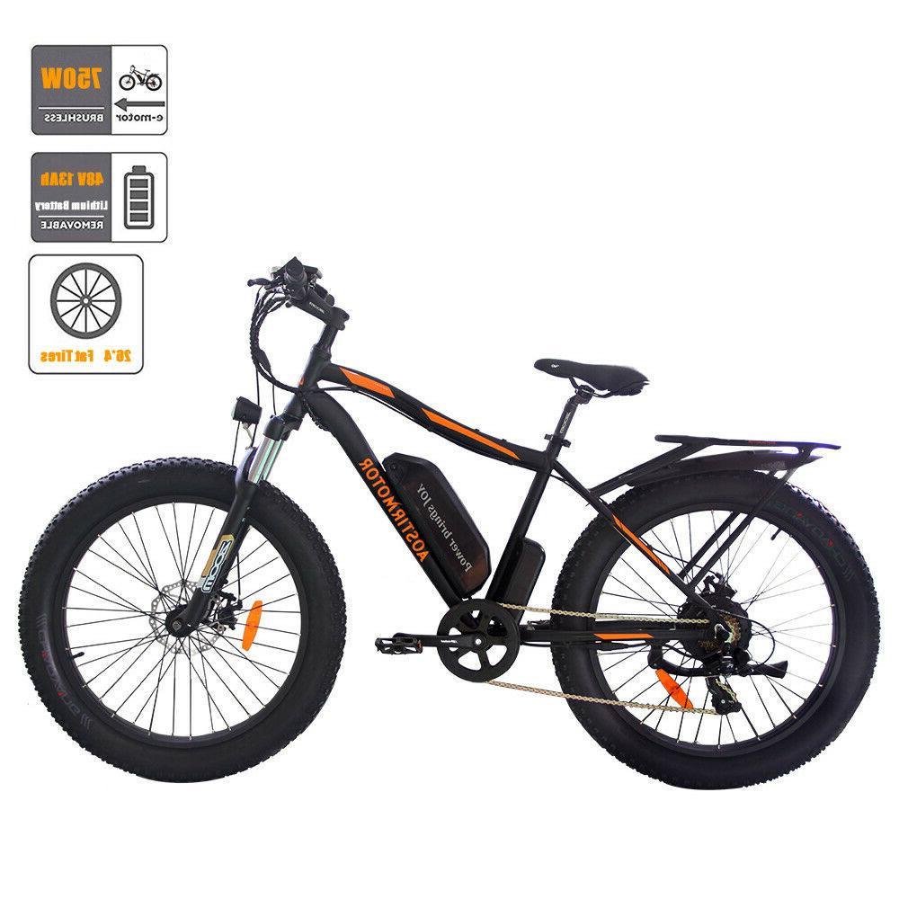 electric mountain bike 26 4 inch fat