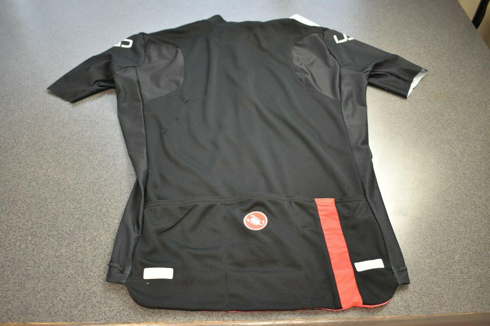 Castelli Entrata Short Sleeve Jersey, Large, Black/Red