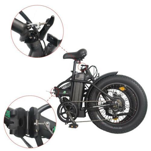 """Folding 20"""" 500W Electric FatTire E Bike Beach Ebike"""
