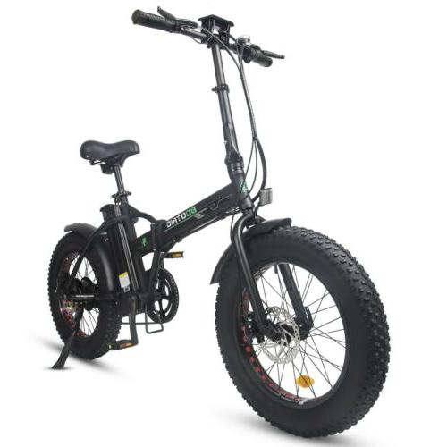 "Folding 20"" 48V 500W Electric Ebike LCD"
